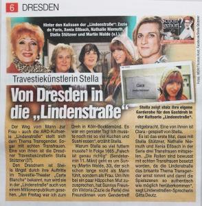 Stella Stützner Trans*Frau Transgender Schauspielerin aus Dresden in der Lindenstraße